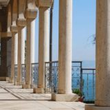 Columns at the Church of the Beatitudes